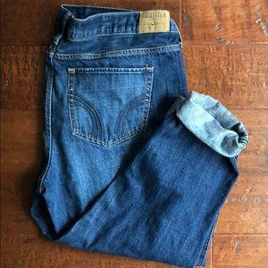 Hollister distressed boyfriend fit jeans
